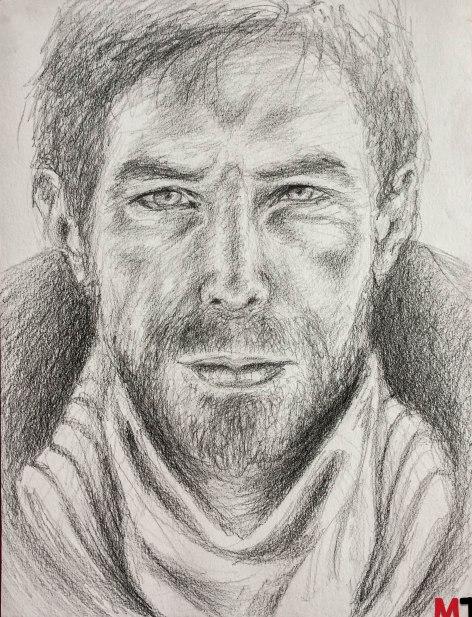 Portrait crayon homme