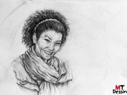 Portrait crayon femme