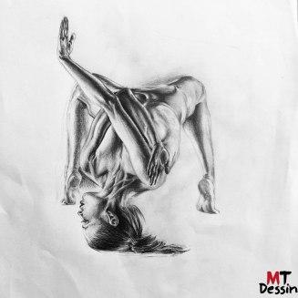 Danse moderne, crayon , MTDessin, A4.