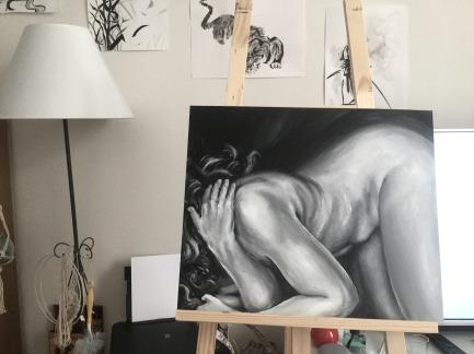 Peinture femme nue MTDESSIN