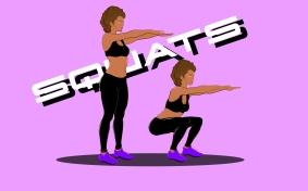 Fitness move design squat dessiné par MTDessin