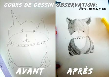 cours de dessin avant aprés observation objet mtdessin