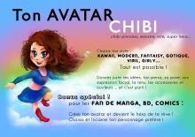 portrait dessiné sur commande mtdessin, chibi manga cosplay,