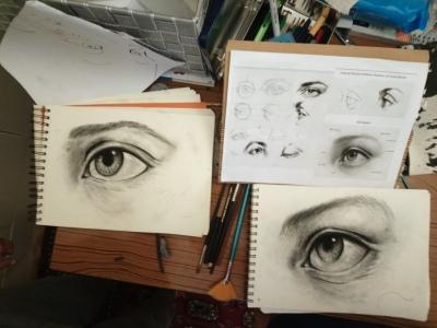 cours de dessin spéciale oeil au fusain mtdessin