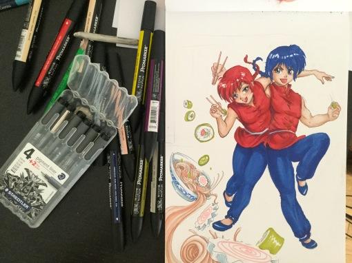 cours dessin manga bD ranma fan art mtdessin