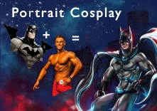 portrait dessiné sur commande mtdessin, cosplay super-hero