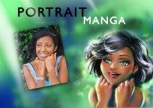portrait dessiné sur commande mtdessin, manga,