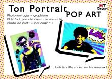 portrait dessiné sur commande mtdessin, pop art