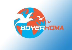 logo société boyerhoma tourisme transculturel et commercial france - iran. designed by mtdessin.