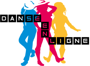 Logo Danse en ligne, club association de country dance, designed by mtdessin.