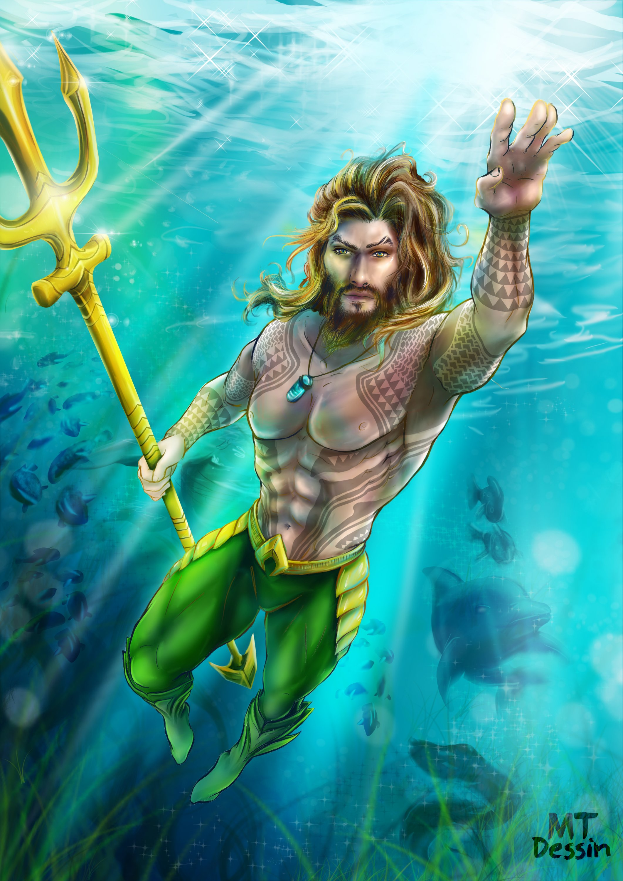 Aquaman. Arthur. King of Atlantis.